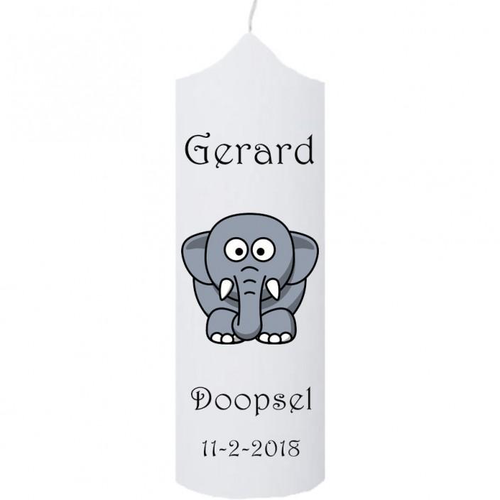 Doopkaars olifant (klokkaars)