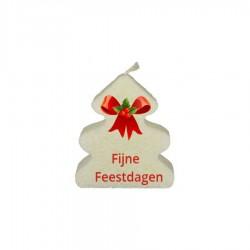 Fijne Feestdagen (kerstboomkaars)