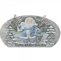 Fijne Kerstdagen (grijze ovaalkaars)