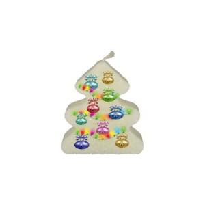 Kerstballen in kerstboom  (kerstboomkaars)