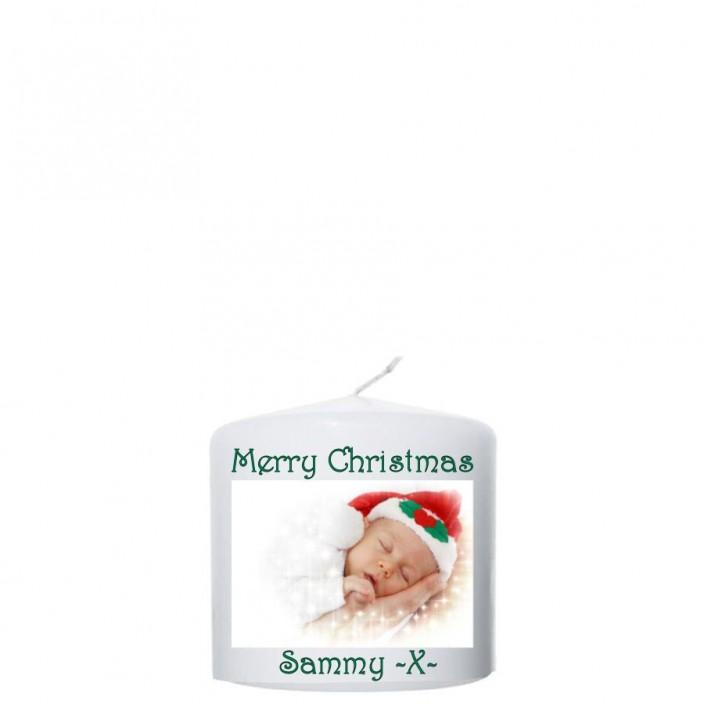 """Merry Christmas""met Foto en naam  100x100"