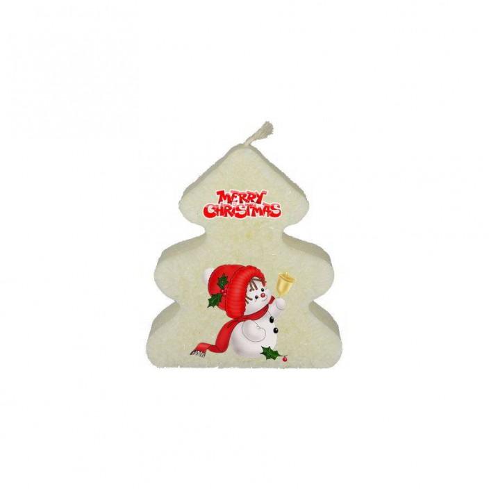 Sneeuwpop, Merry Christmas  (kerstboomkaars)