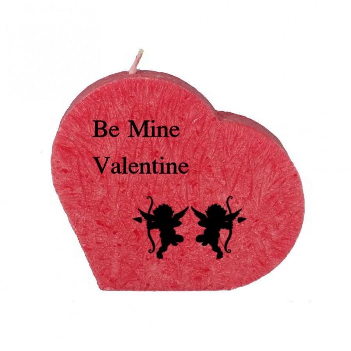 Valentijn hartkaars - Be mine valentine