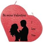 Valentijn hartkaars groot - Be mine Valentine