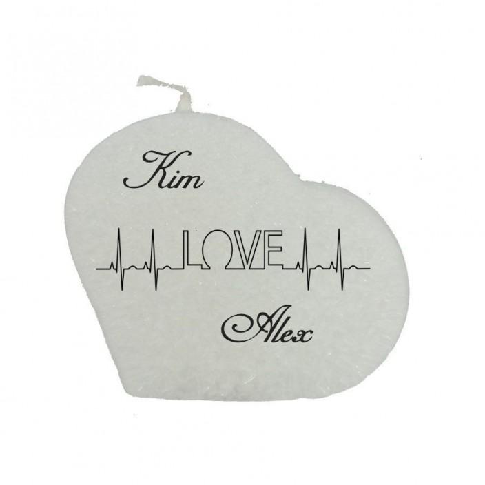Valentijn hartkaars - Love (met namen)