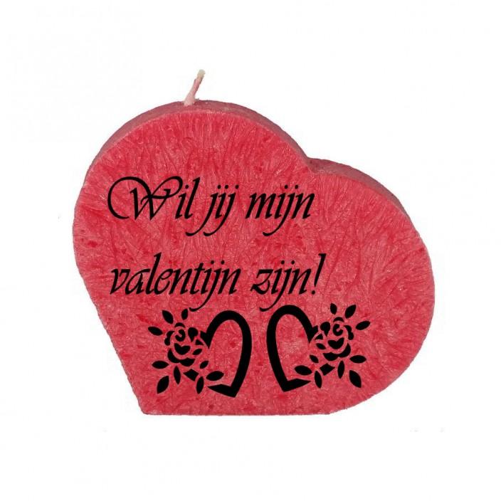 Valentijn hartkaars - wil je mijn valentijn zijn!