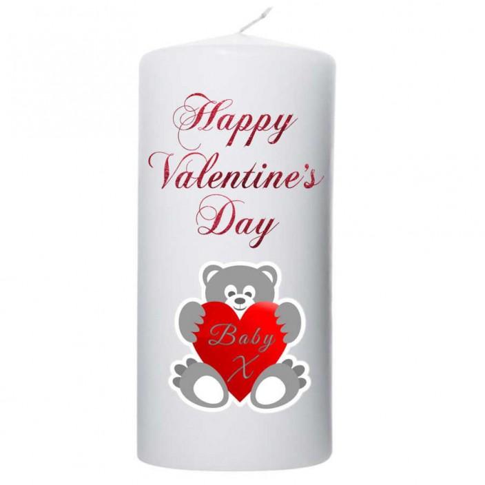 Valentijn kaars 100x200 Happy Valentine's day