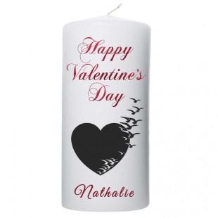 Valentijn kaars 100x200 Happy Valentine's day (met naam)