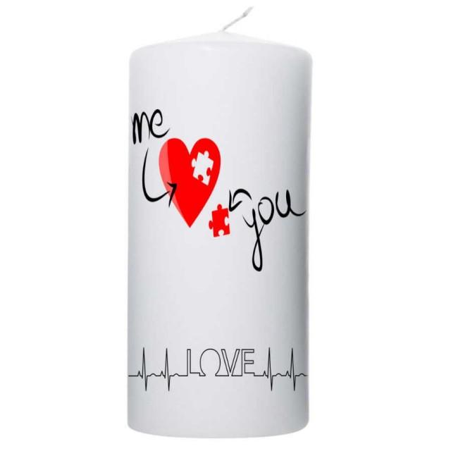 Valentijn kaars 100x200 - Love