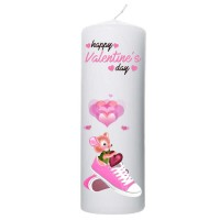 Valentijn kaars 70x200 - Happy valentine's day