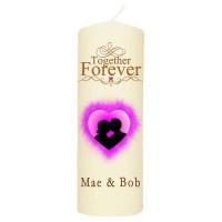 Valentijn kaars 70x200 - Together forever