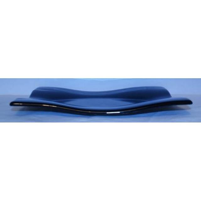 Glazen schaal mondo zwart 260x190
