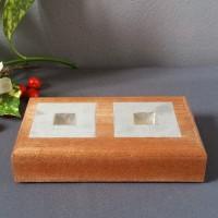 houten tafelkaarsen standaard dubbel