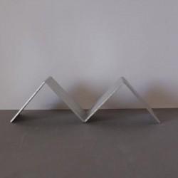 Kubus houder aluminium duo