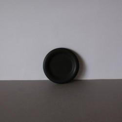 Zwarte ronde schaal 100mm