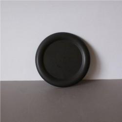 Zwarte ronde schaal 120mm
