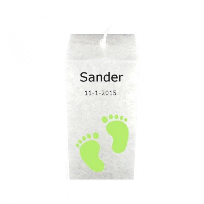 Geboortekaars groene voetjes