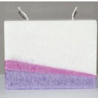 Blokkaars multicolor paars