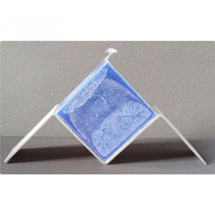 Zwevende kubus blauw