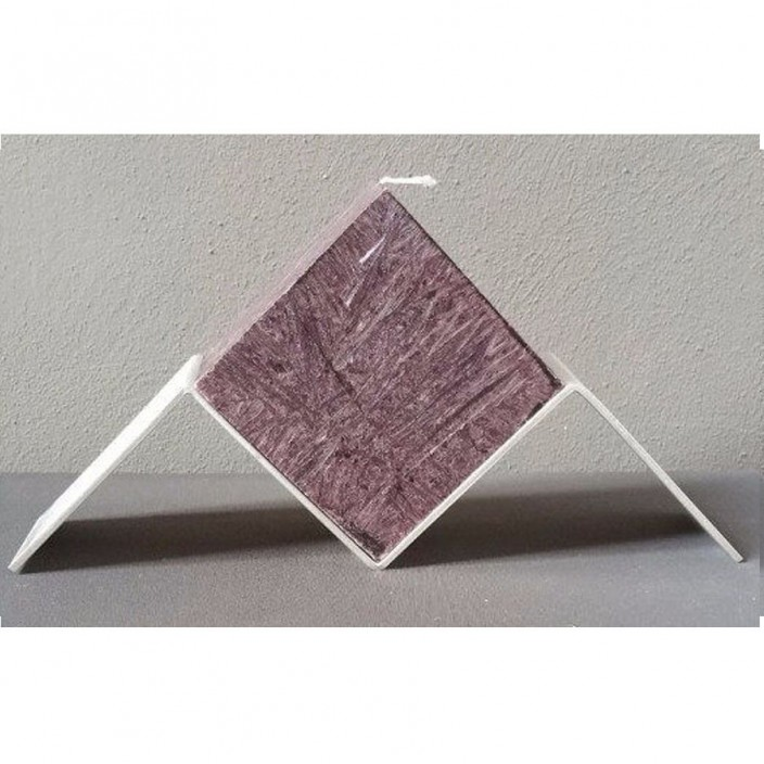 Zwevende kubus donkerbruin