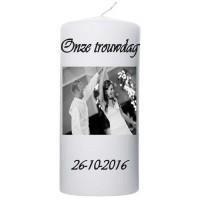 Trouwkaars Onze trouwdag
