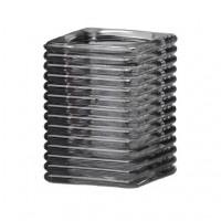 Vierkant ribbelglas voor refills (rook)