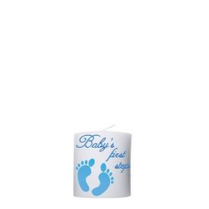Geboortekaars blauwe babyvoetjes