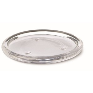Glazen onderzetter Ø110 mm transparant