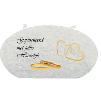 Trouwkaars Gefeliciteerd met jullie huwelijk