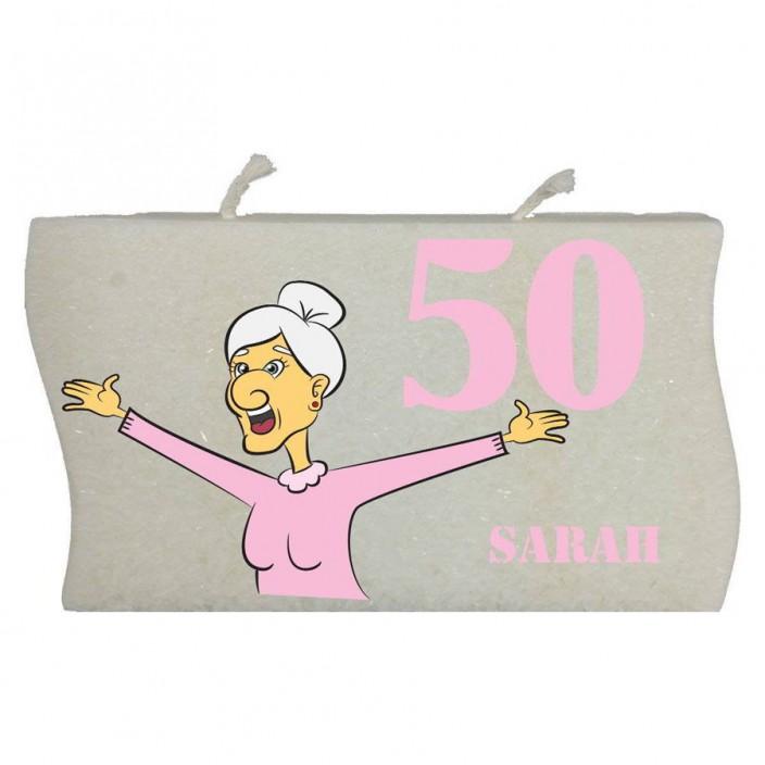 Verjaardagskaars Sarah 50 jaar - model golf