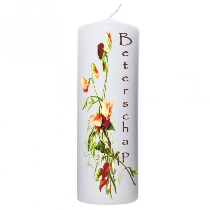Beterschap kaars bloemen