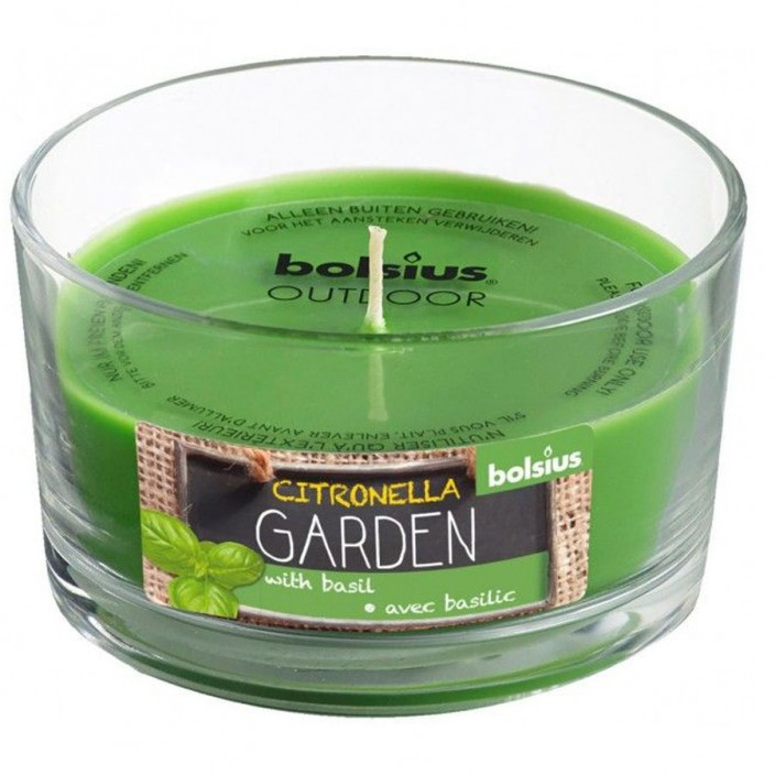 Gevuld geurglas citronella garden 62/106 citronella/basil