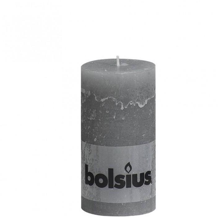 Bolsius rustieke stompkaars Grijs 130x68