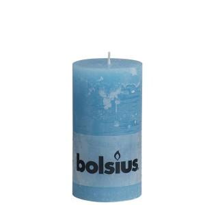 Bolsius rustieke stompkaars Aqua 130x68