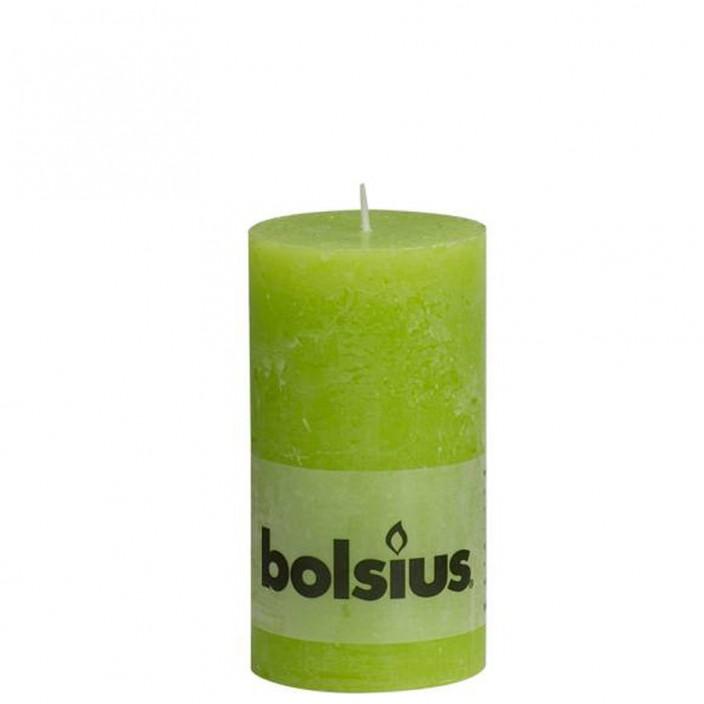 Bolsius rustieke stompkaars Lime 130x68