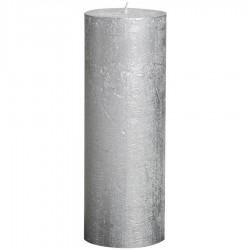 Bolsius rustieke stompkaars Zilver 190x68