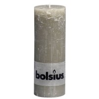 Bolsius rustieke stompkaars Kiezelgrijs 190x68