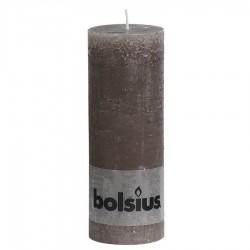 Bolsius rustieke stompkaars Taupe 190x68