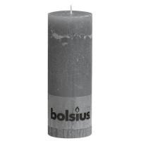 Bolsius rustieke stompkaars Grijs 190x68