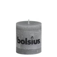 Bolsius rustieke stompkaars Grijs 80x68