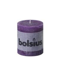 Bolsius rustieke stompkaars Paars 80x68