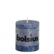 Bolsius rustieke stompkaars Donkerblauw 80x68
