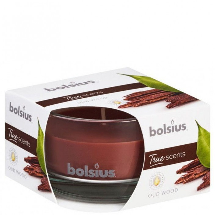 Bolsius Geurglas 80/50 True Scents Oud Wood