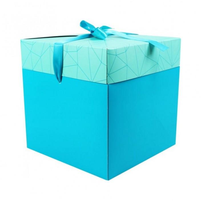 Cadeaudoos zeeblauw 20x20x20cm