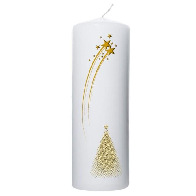 goudkleurige sterren en kerstboom 70x200