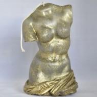 Beeldkaars Torso vrouw  Goud