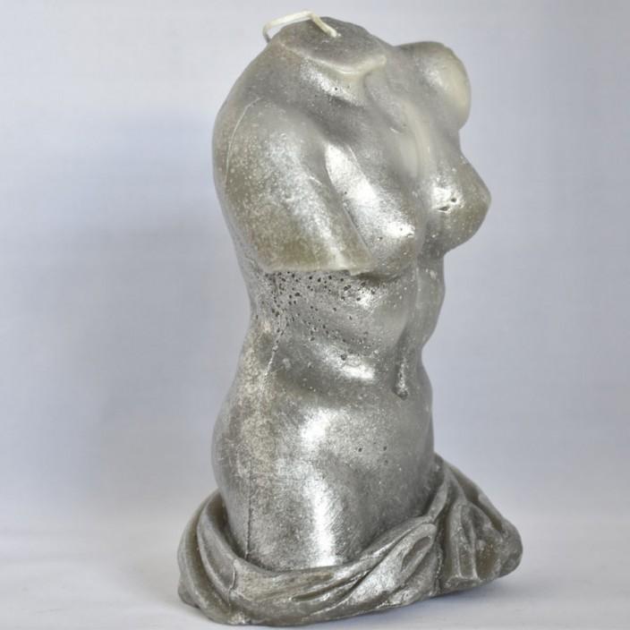 Beeldkaars Torso vrouw Zilver