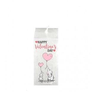 Valentijn kaars vierkant - Olifant Happy valentine`s Day
