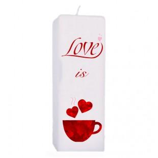 Valentijn kaars 70x70x200 - Love is