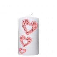 Valentijn kaars 80x150 - 3 Harten